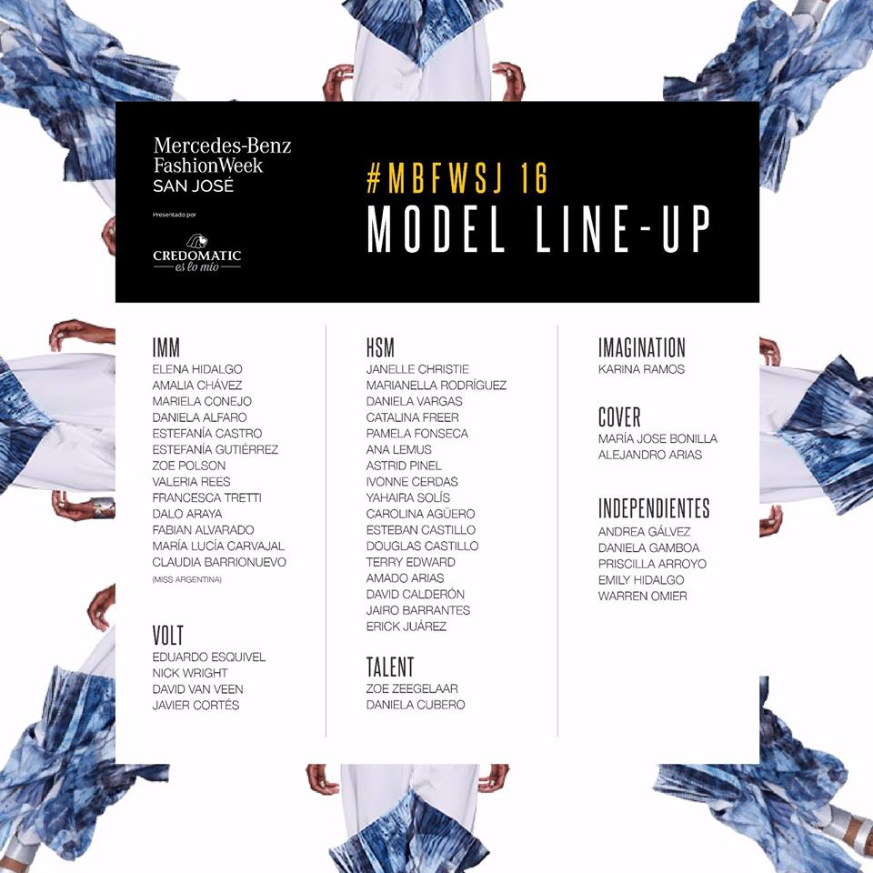 Line up oficial de modelos MBFW SJ 16